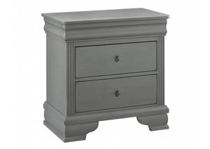 French Market Zinc 2 Drawer Nightstand