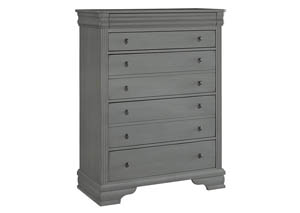 French Market Zinc Storage 5 Drawer Chest