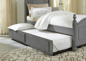 French Market Zinc Twin Poster Bed w/ Trundle