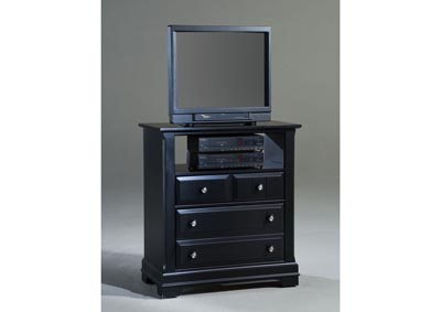Cottage Black Media Chest - 2 Drawer