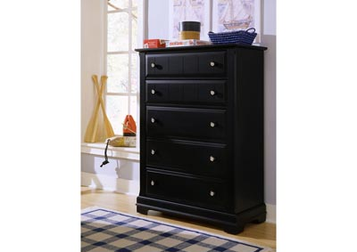 Cottage Black Chest - 5 Drawer