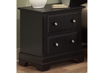 Cottage Black Night Stand - 2 Drawer