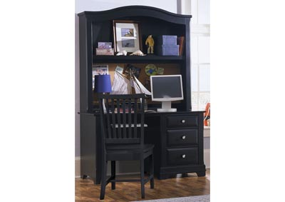 Cottage Black Computer Desk - 3 Drawer