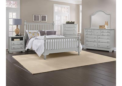 Image for The Cottage Collection Gray Full Panel Bed