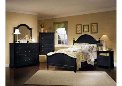 Image for Cottage Collection Deep Oak Double Dresser - 6 Drawer  /w Mirror