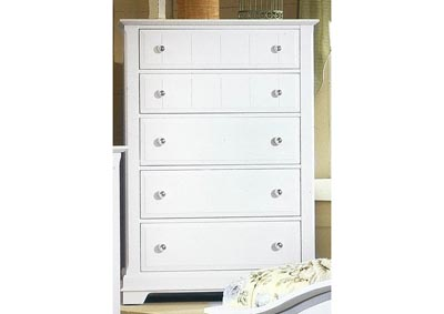 Image for Cottage Collection Porcelain Chest - 5 Drawer