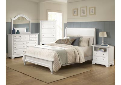 Cottage Collection Domino Sleigh King Bed  w/Dresser&Mirror