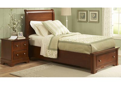 Image for Cottage Collection Tallow Sleigh Twin Bed &Storage