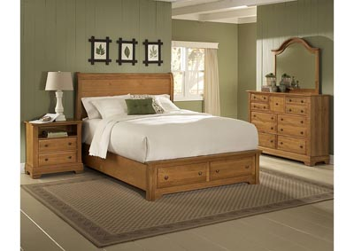 Cottage Collection Domino Sleigh King Bed  & Storage