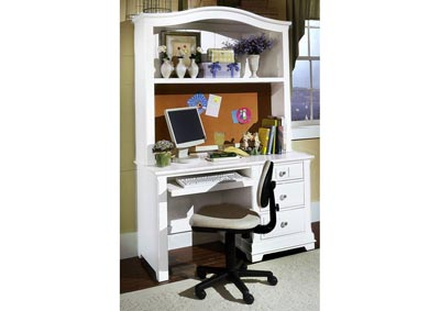 Image for Cottage Snow White Computer Desk - 3 Drawer