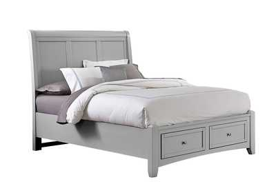Bonanza Quick Silver Sleigh Queen Bed &Storage