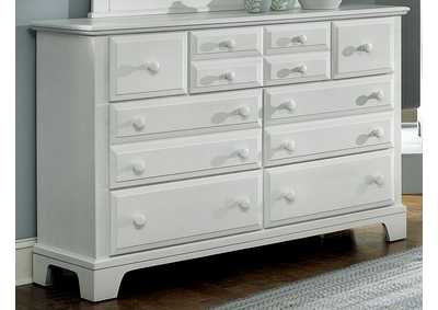 Barnburner 6 Silver Triple Dresser - 7 Drawer