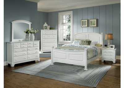 Barnburner 6 Silver Panel King Bed  w/Dresser&Mirror