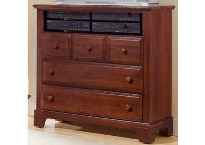 Barnburner 6 Espresso Media Chest - 3 Drawer