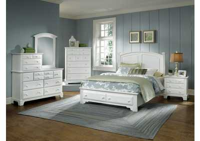 Barnburner 6 Silver Panel Full Bed-5/0   &Storage w/Dresser&Mirror