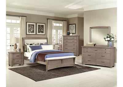 Image for Transitions Pampas UpholsteryFull Bed-5/0   w/Dresser&Mirror