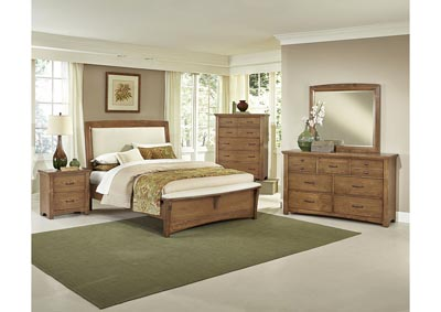 Image for Transitions Moon Mist UpholsteryFull Bed-5/0  w/Dresser&Mirror