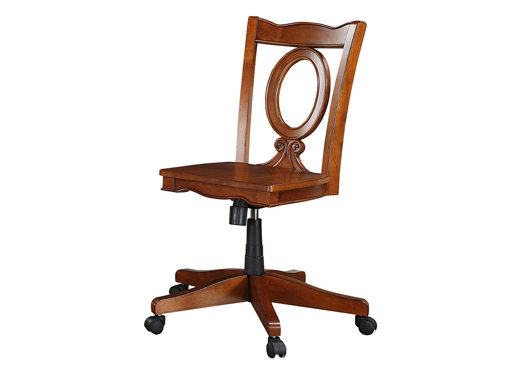 Brilliant Aloha Furniture Palm Beach Cherry Office Chair Dailytribune Chair Design For Home Dailytribuneorg