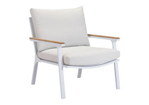 Maya Beach Arm Chair Gray, Natural & White